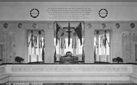 The Memorial Shrine, Auckland War Memorial Museum (completed 1929)