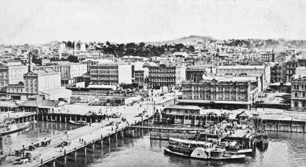 Queens Wharf Auckland circa 1905