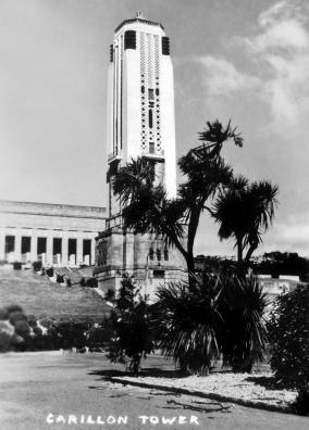 Wellington: Carillon Tower / National War Memorial (dedicated on Anzac Day 1932). Buckle Street