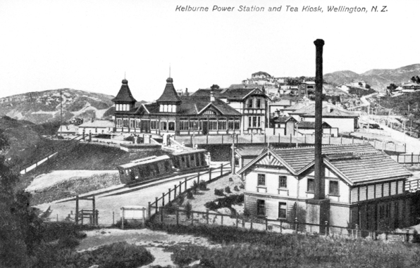 Kelburn Kiosk, Cable Car and Power Station 1904