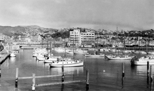Chaffers Marina, with the former Post and Telegraph building in the centre (Built 1939)