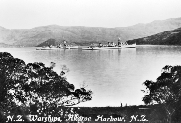 NZ Warships in Akaroa Harbour