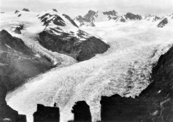 Head of Franz Josef Glacier from Castle Rocks