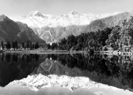 Mt Cook and Mt Tasman from Lake Matheson