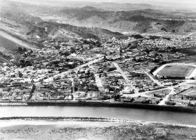 Aerial view of Greymouth