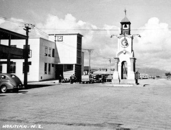 Hokitika: Post Office and Clock Tower (unveiled 3rd June 1903)