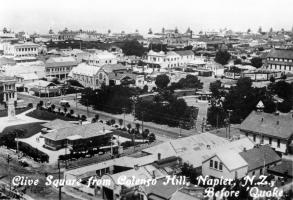 Clive Square from Colenso Hill (pre-earthquake)
