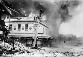 Fire on Hastings Street earthquake, 1931