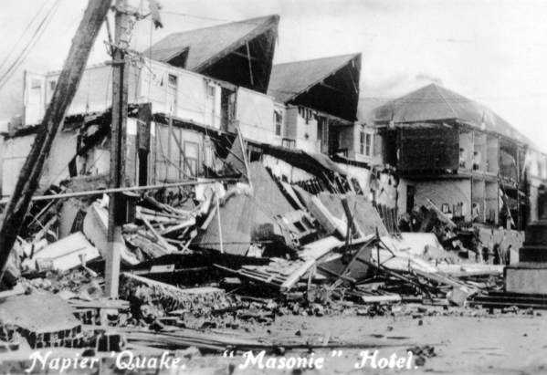 Masonic' Hotel after earthquake, 1931