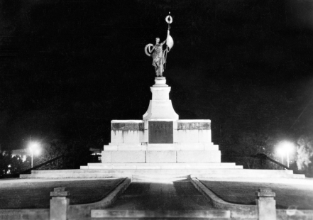 Palmerston North: War Memorial at Night (unveiled 7th Feb 1926)