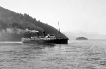 Ship entering Picton Harbour