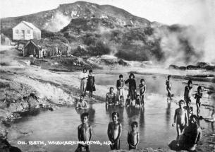 Whakarewarewa Oil Bath,circa 1900