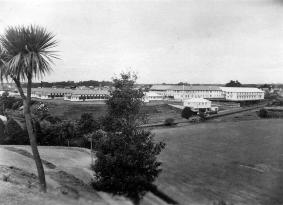 Public Hospital from Western Park, New Plymouth