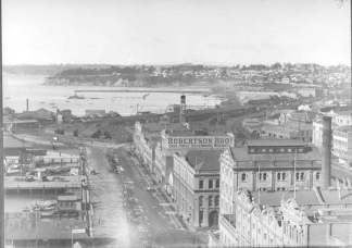 Henry Winklemann's original glass plate used to photograph his panorama of Auckland City from the top of the Ferry Building, 19 July 1912. Image courtesy of Sir George Grey Special Collections, Auckland Libraries, 1-W985