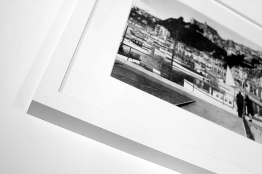 Framed print with white frame and acid free matt