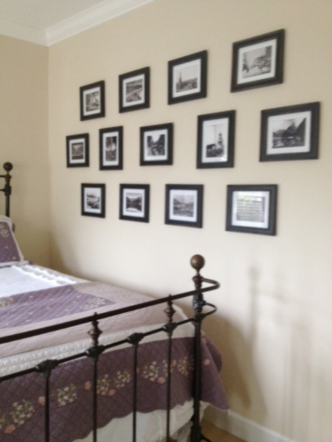 Photos from www.oldphotos.co.nz used to give a bedroom in the USA a kiwi look!
